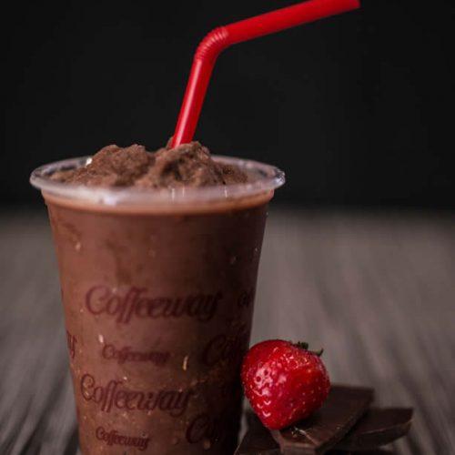 κρύα αρωματική σοκολάτα φράουλα