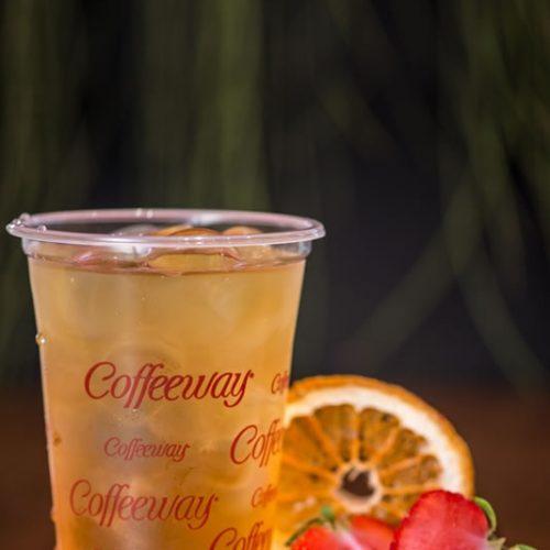 Πράσινο αρωματικό τσάι Φράουλα-Πορτοκάλι