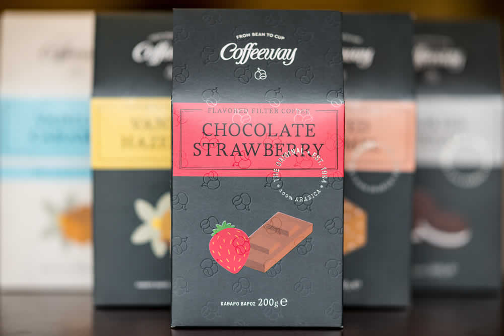 Chocolate strawberry flavored filter coffee by Coffeeway