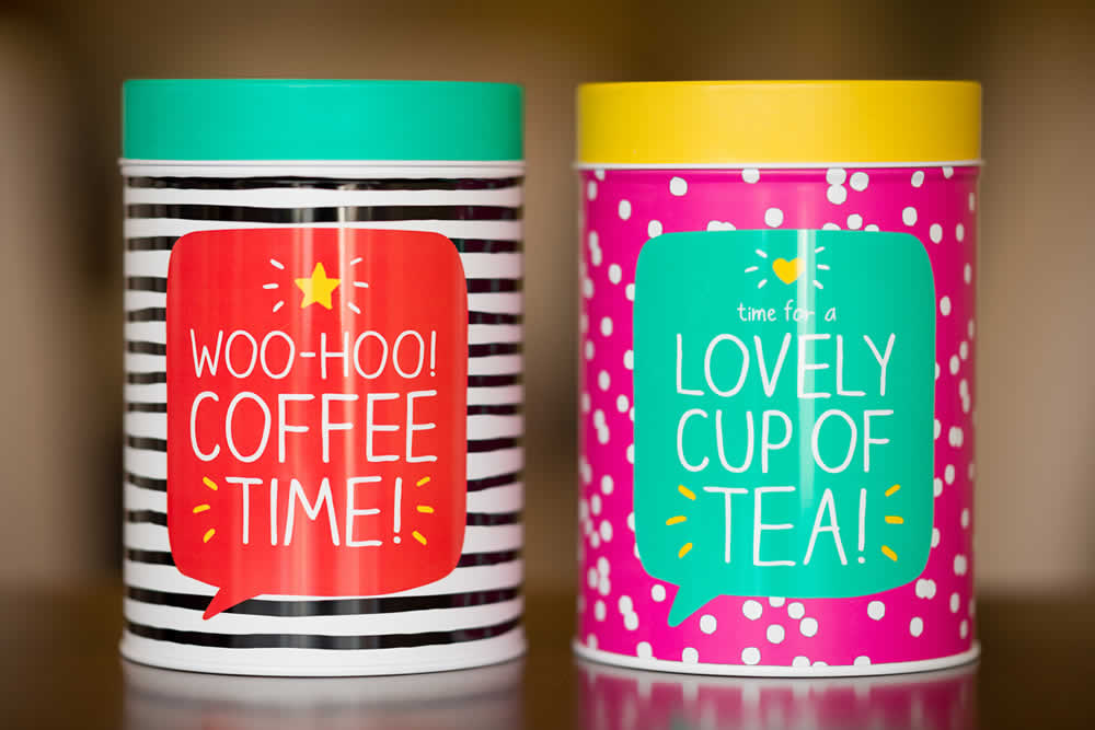 Coffee tins by Coffeeway