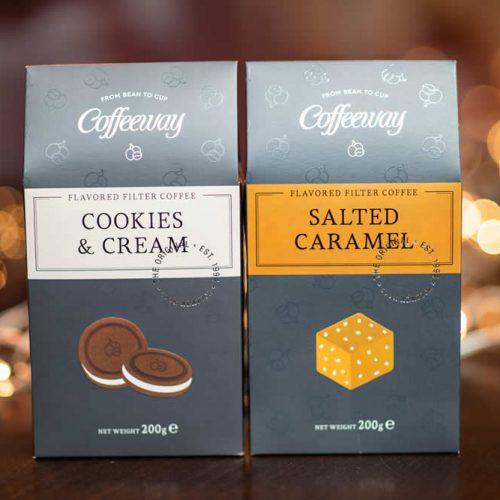 Αρωματικός καφές Cookies & Cream 200g & Salted Caramel 200g Λ.Τ. 12,40