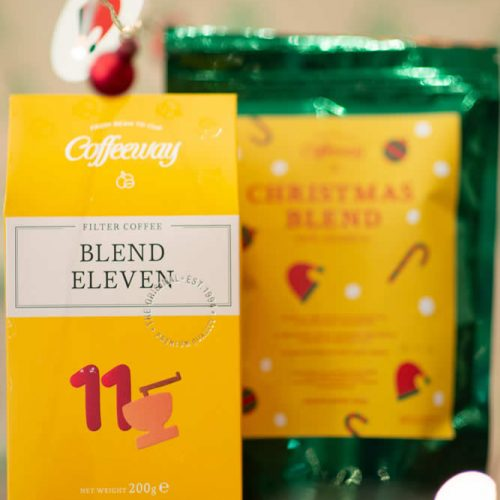 Αρωματικός καφές φίλτρου XMAS blend 200g & κλασικός καφές φίλτρου Blend Eleven 200g Λ.Τ. 10,60€