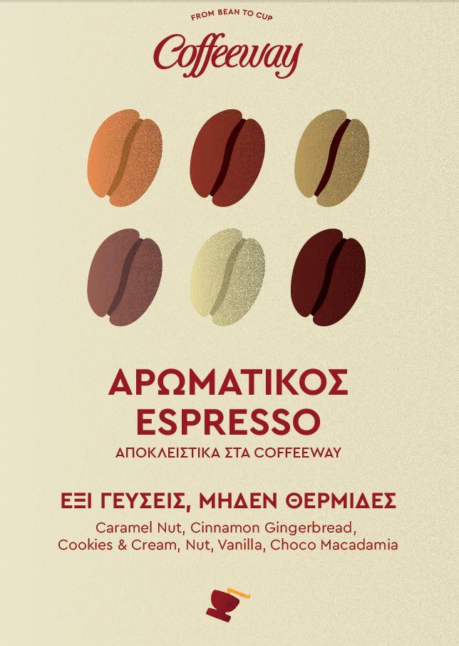 Αρωματικός espresso αποκλειστικά στα Coffeeway!