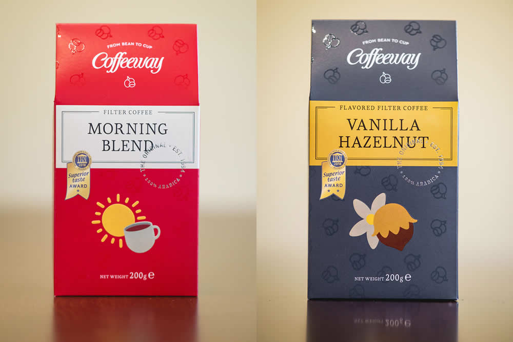 Superior Taste Award for Coffeeway Vanilla-Hazelnut & Morning Blend filter coffee!