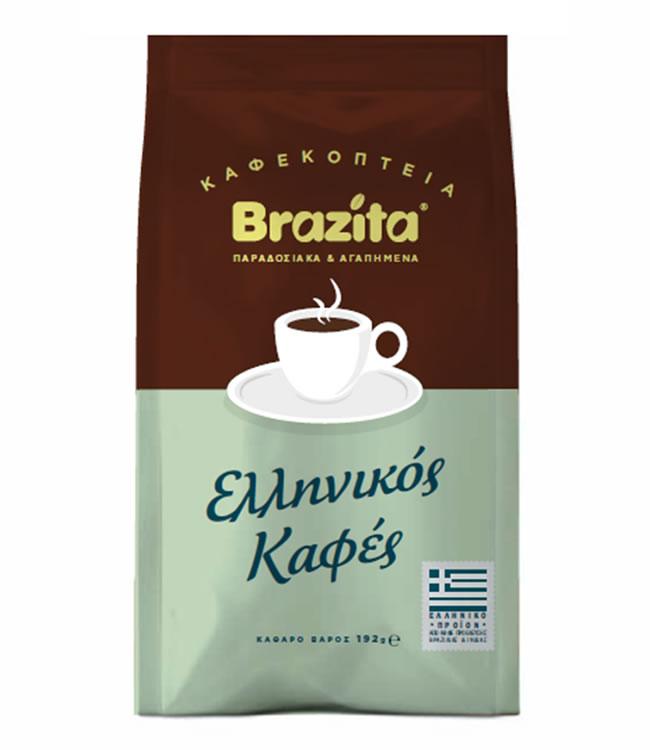 Παραδοσιακός και αγαπημένος, ο ελληνικός καφές Brazita φέρνει στο φλιτζάνι σας, το άρωμα του αυθεντικού καφέ καφεκοπτείου. Κάθε συσκευασία κλείνει μέσα της την τέχνη του ελληνικού καφέ, τη γνώση, την εμπειρία και το μεράκι, για να απολαμβάνετε πάντα πλούσιο καϊμάκι και αληθινή γεύση, όπως παλιά!