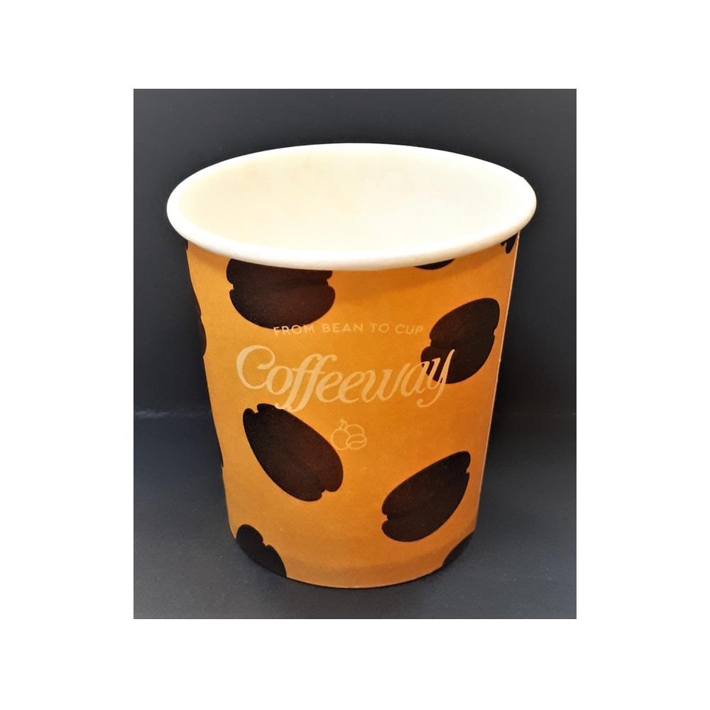 Μονότοιχο χάρτινο ποτήρι Coffeeway 4oz