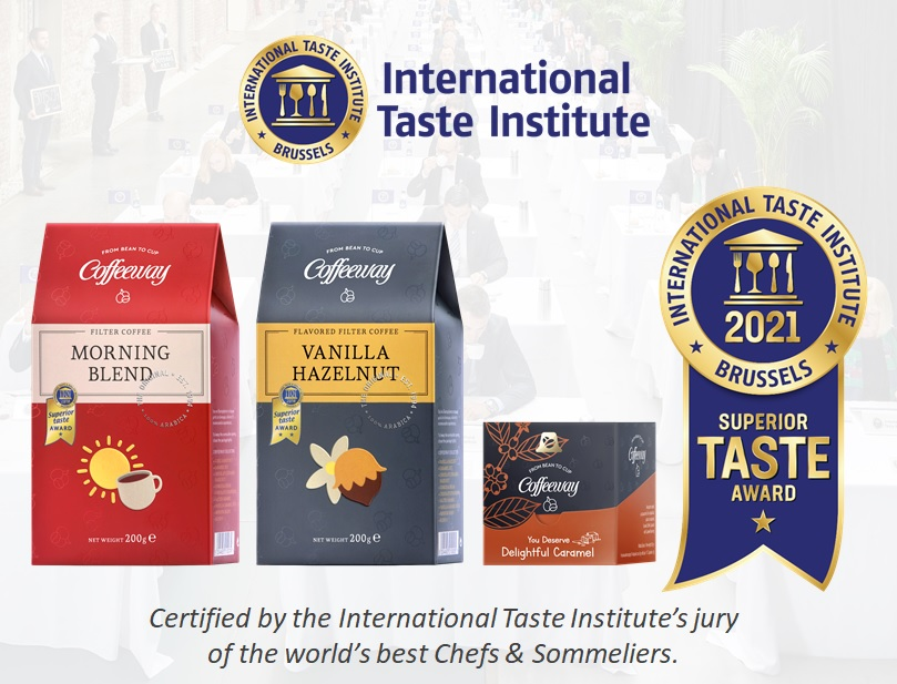 Superior Taste Award for 3 Coffeeway products